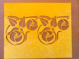 Glasgow rose stencil border
